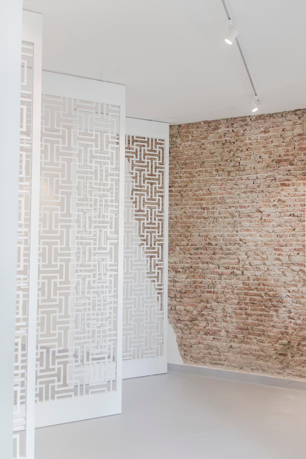 19 Cantonment, Commercial, Architect, PROVOLK ARCHITECTS, Modern, Patterned Partition, Partitions, Carpet, Home Decor