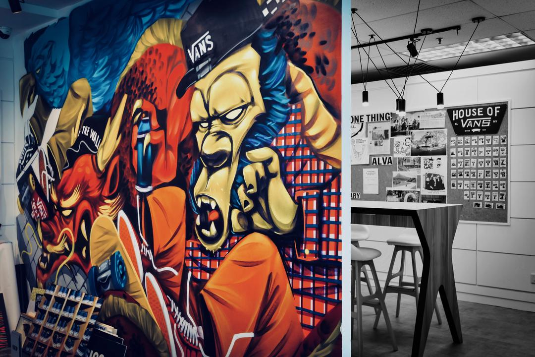 VF Brands Malaysia, KL, Dot Works, Retro, Contemporary, Industrial, Commercial, Chair, Furniture, Dining Table, Table, Graffiti, Art