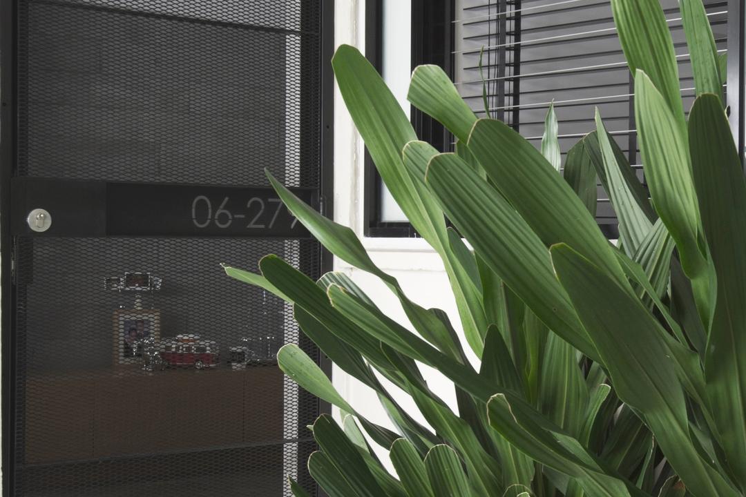 Dakota Crescent (Block 58), PROVOLK ARCHITECTS, Modern, HDB, Porch, Foyer, Steps, Entrance, Gate, Plant, Outside