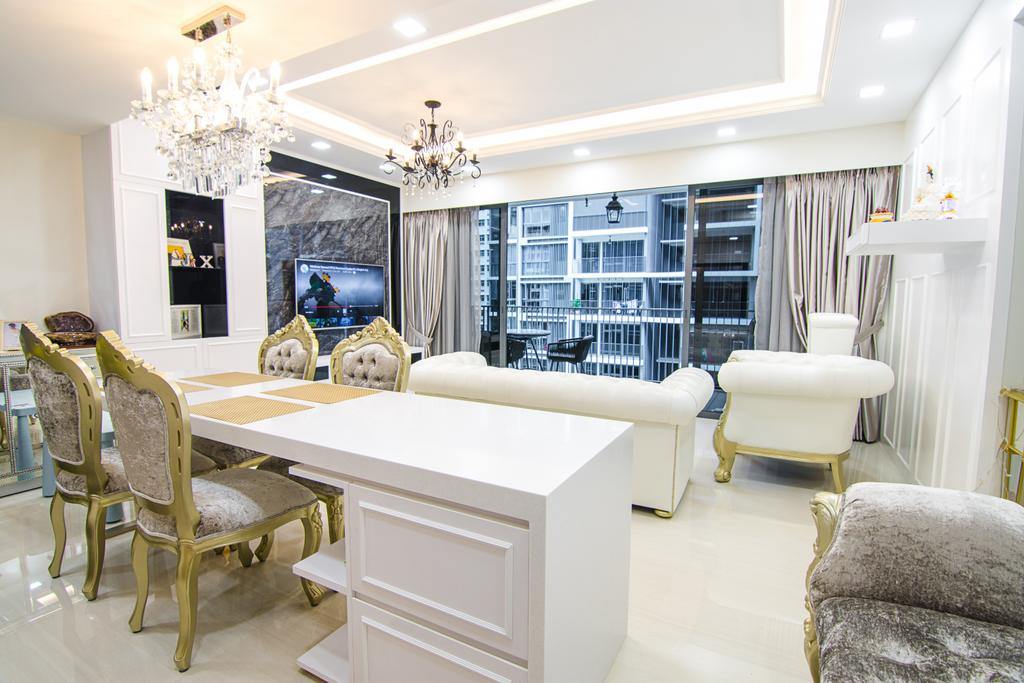 Modern, Condo, Dining Room, Bellewaters, Interior Designer, Design Story, Couch, Furniture, Chair, Indoors, Interior Design, Room