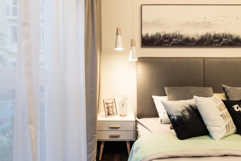 Scandinavian, Condo, Bedroom, Meadow Lodge, Interior Designer, Mr Shopper Studio, Sink, Indoors, Interior Design, Room