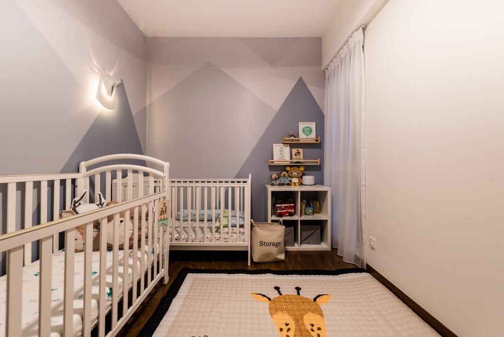 Scandinavian, Condo, Bedroom, Meadow Lodge, Interior Designer, Mr Shopper Studio, Crib, Furniture, Indoors, Nursery, Room