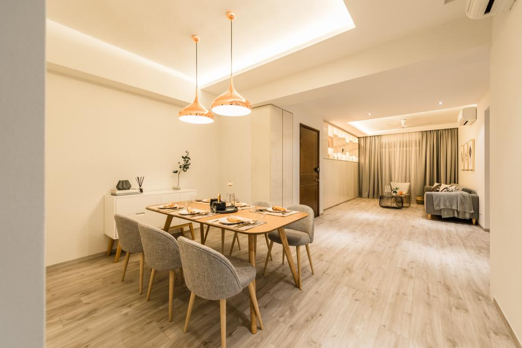 Scandinavian, Condo, Dining Room, Meadow Lodge, Interior Designer, Mr Shopper Studio, Dining Table, Furniture, Table, Indoors, Interior Design, Room, Sink