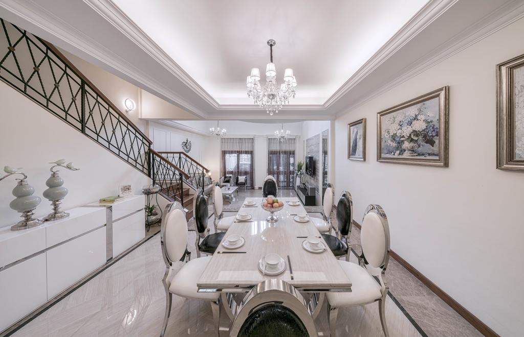 Modern, Landed, Dining Room, Kew Avenue, Interior Designer, T&T Design Artisan, Dining Table, Furniture, Table, Molding
