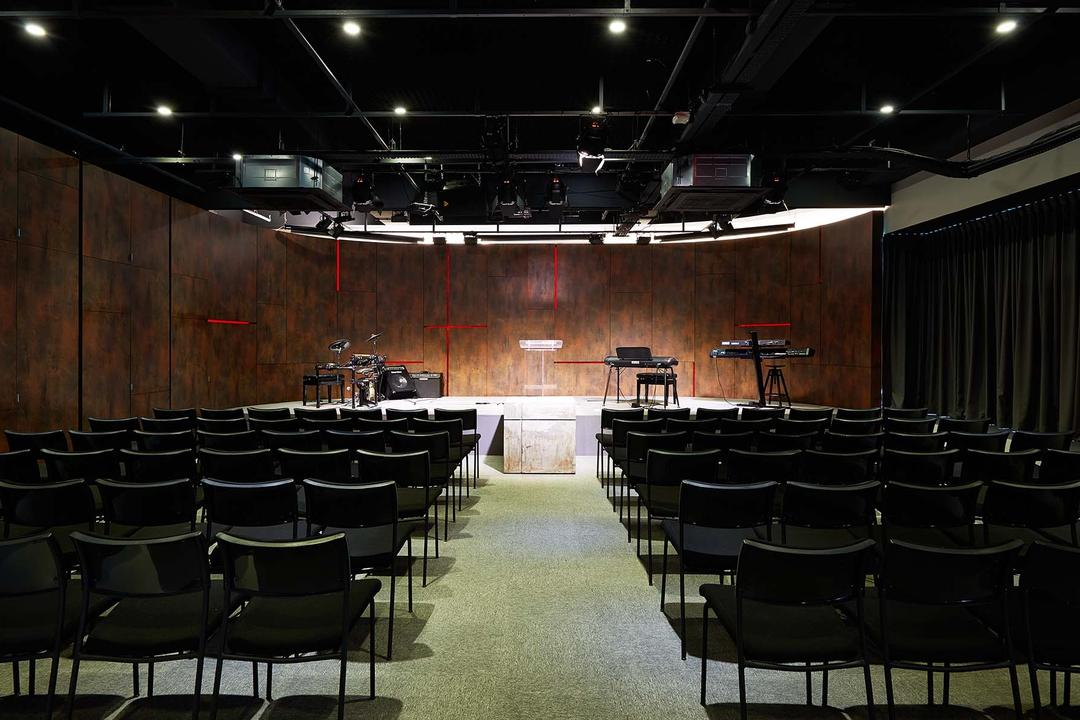 One Commonwealth, PROVOLK ARCHITECTS, Modern, Commercial, Theatre, Auditorium, Stage, Conference Room, Ballroom, Chair, Furniture, Hall, Indoors, Interior Design, Room, Theater, Lighting, Meeting Room