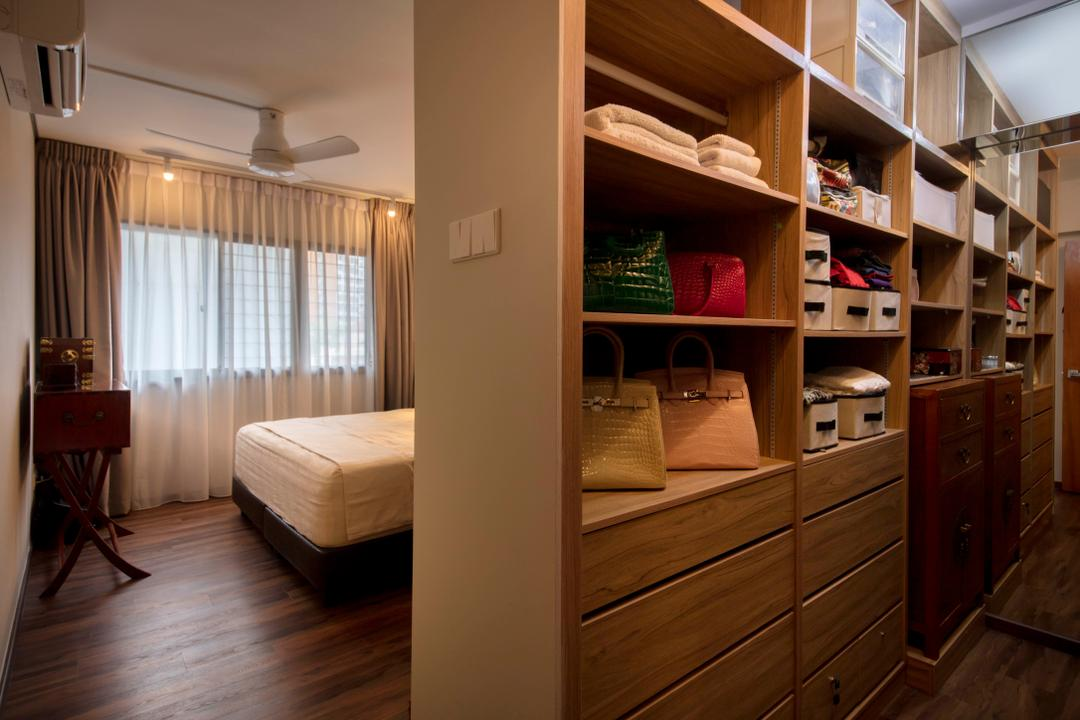 Hougang Street 51, New Age Interior, Eclectic, Bedroom, HDB, Luggage, Suitcase, Shelf, Closet, Cupboard, Furniture
