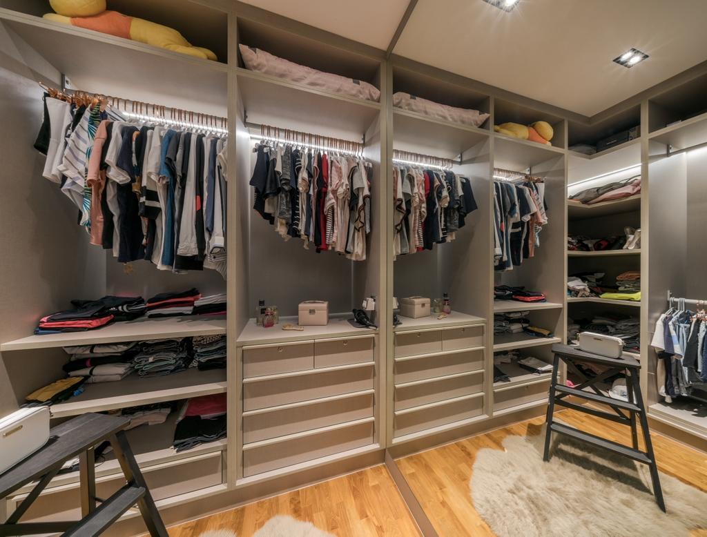 Modern, Condo, Bedroom, A Treasure Trove, Interior Designer, T&T Design Artisan, Wardrobe, Walk In Wardrobe, Dressing Room, Dresser, Closet