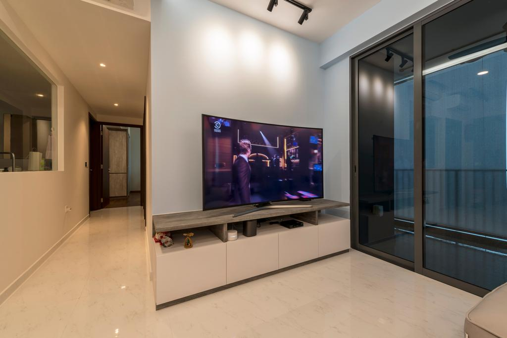 Scandinavian, Condo, Living Room, Yishun Street 51, Interior Designer, Starry Homestead, Electronics, Entertainment Center, Home Theater, Lcd Screen, Monitor, Screen, Tv, Television
