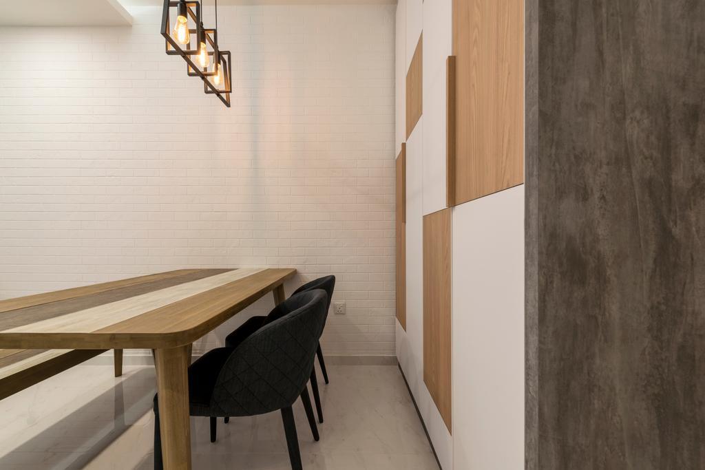 Scandinavian, Condo, Yishun Street 51, Interior Designer, Starry Homestead, Light Fixture, Chair, Furniture, Dining Table, Table