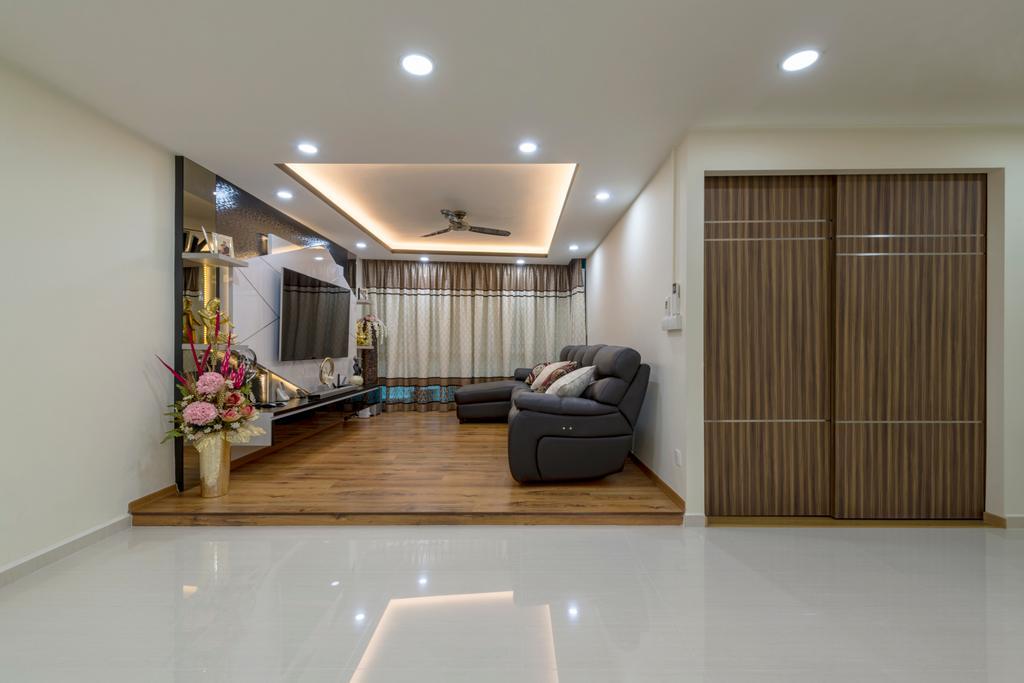 Modern, HDB, Punggol Central, Interior Designer, Colourbox Interior, Blossom, Flora, Flower, Flower Arrangement, Ornament, Plant, Couch, Furniture