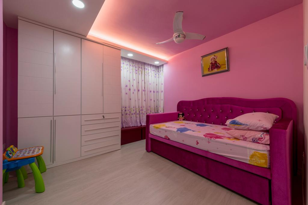 Modern, HDB, Bedroom, Punggol Central, Interior Designer, Colourbox Interior, Chair, Furniture, Bed, Indoors, Room