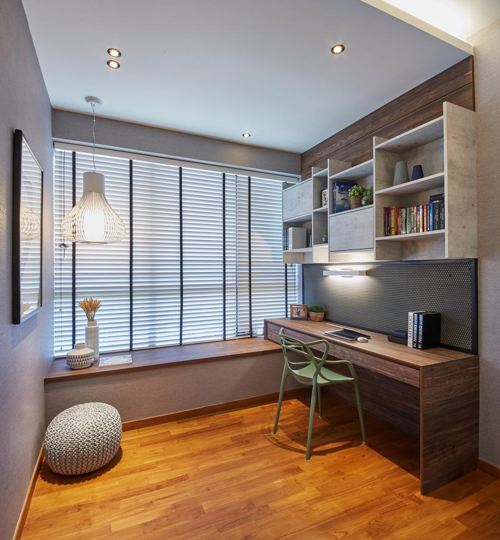 Contemporary, Condo, Study, Flamingo Valley, Interior Designer, Elements ID, Chair, Furniture