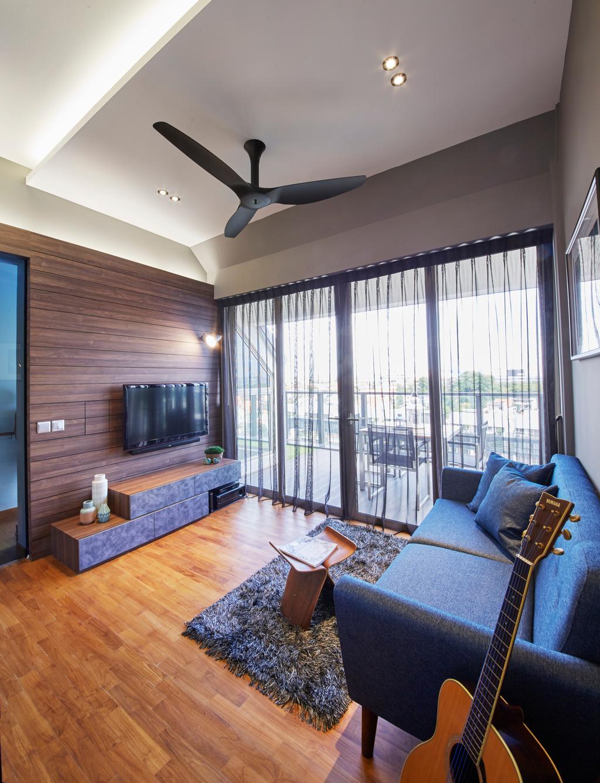Contemporary, Condo, Living Room, Flamingo Valley, Interior Designer, Elements ID