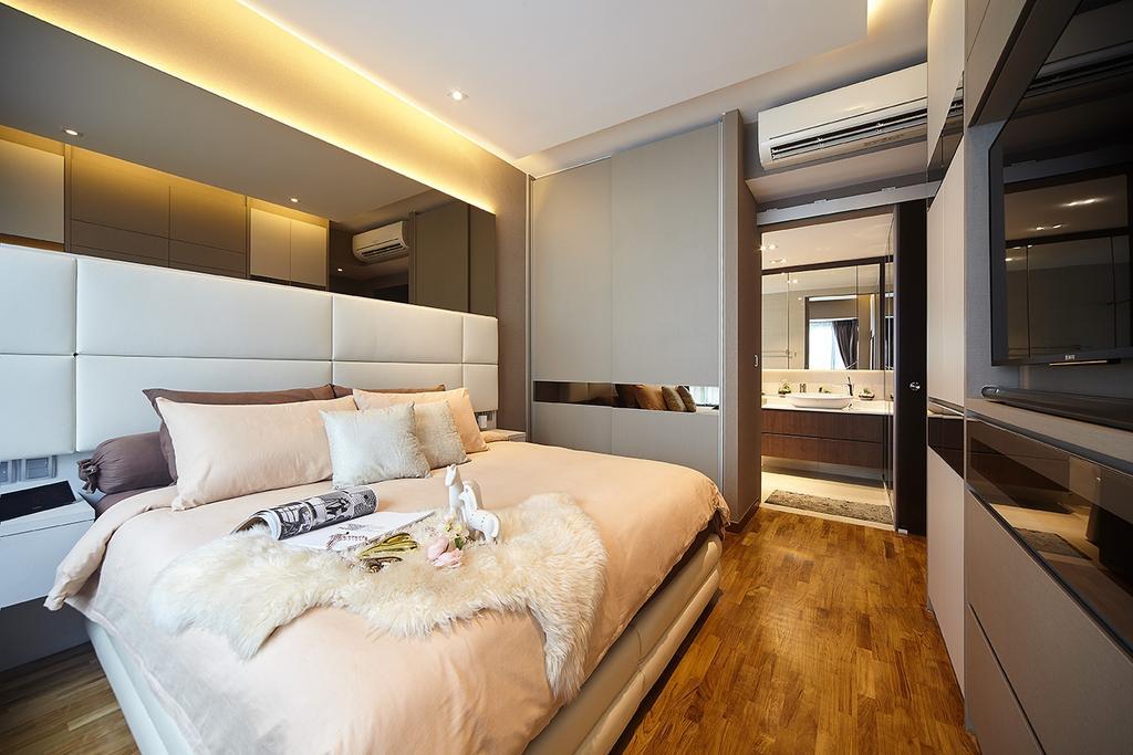 Modern, Condo, Bedroom, The Palette, Interior Designer, I-Bridge Design, Bed, Furniture, Bathroom, Indoors, Interior Design, Room