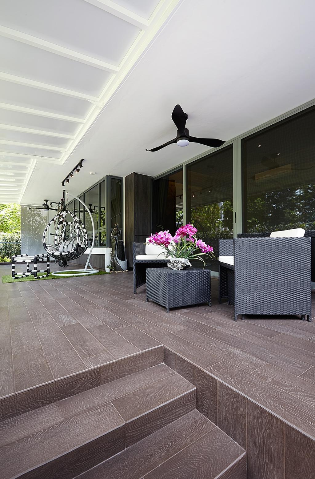 Modern, Condo, Balcony, The Palette, Interior Designer, I-Bridge Design, Flora, Jar, Plant, Potted Plant, Pottery, Vase