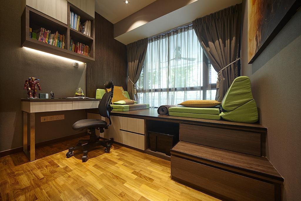Modern, Condo, Study, The Palette, Interior Designer, I-Bridge Design, Appliance, Electrical Device, Oven, Flooring, Indoors, Interior Design, Shelf, Bookcase, Furniture