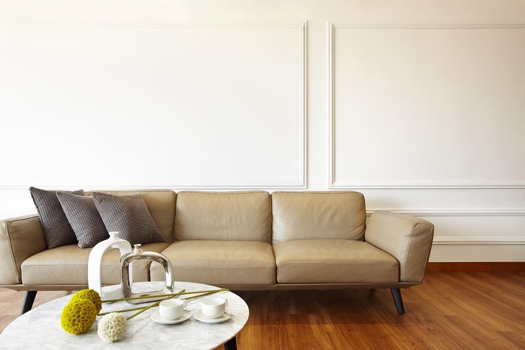 Scandinavian, Condo, Living Room, Chuan Park, Interior Designer, I-Bridge Design, Couch, Furniture, Chair
