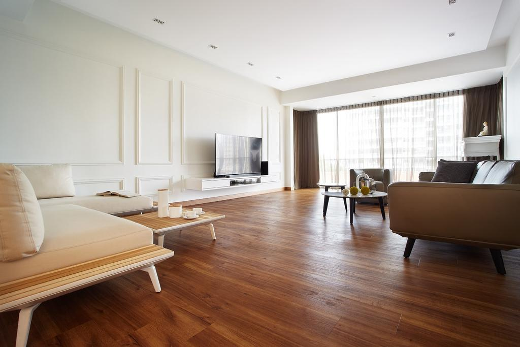 Scandinavian, Condo, Chuan Park, Interior Designer, I-Bridge Design, Hardwood, Wood