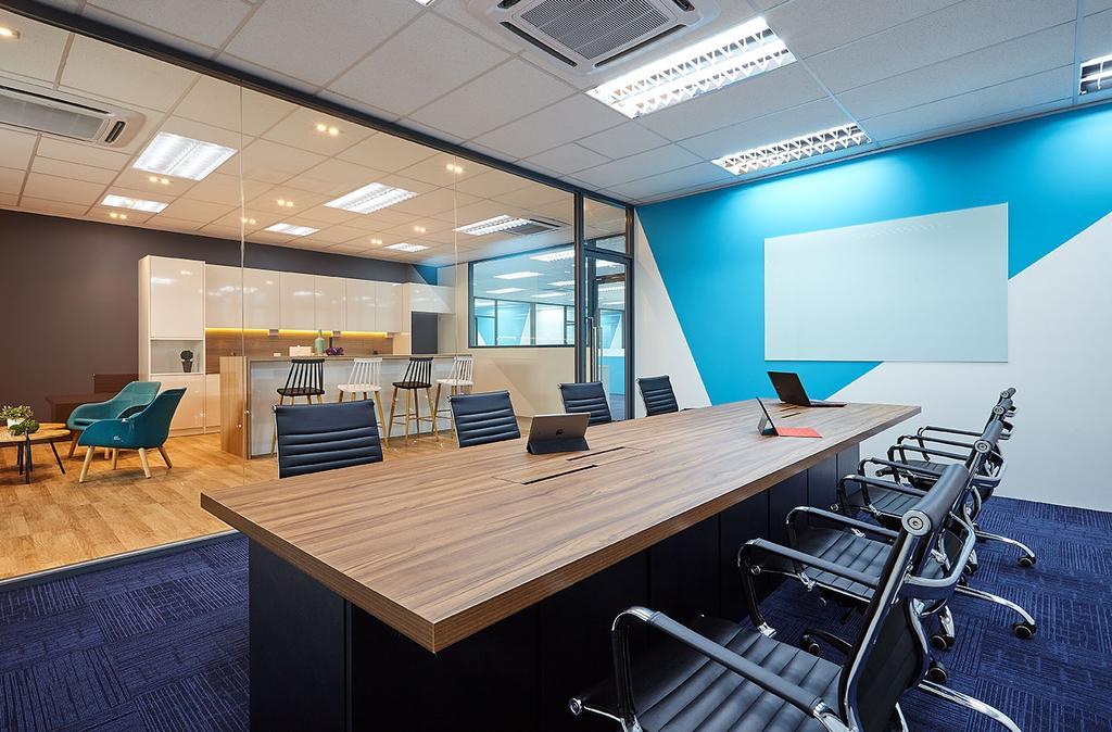 Mentor Media @Jalan Buroh, Commercial, Interior Designer, I-Bridge Design, Scandinavian, Conference Room, Indoors, Meeting Room, Room, Furniture, Dining Table, Table, Floor, Chair