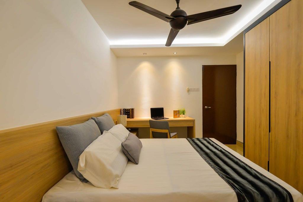Contemporary, Landed, Laman Rimbunan, Kepong, Interior Designer, Torch Empire, Light Fixture, Bed, Furniture