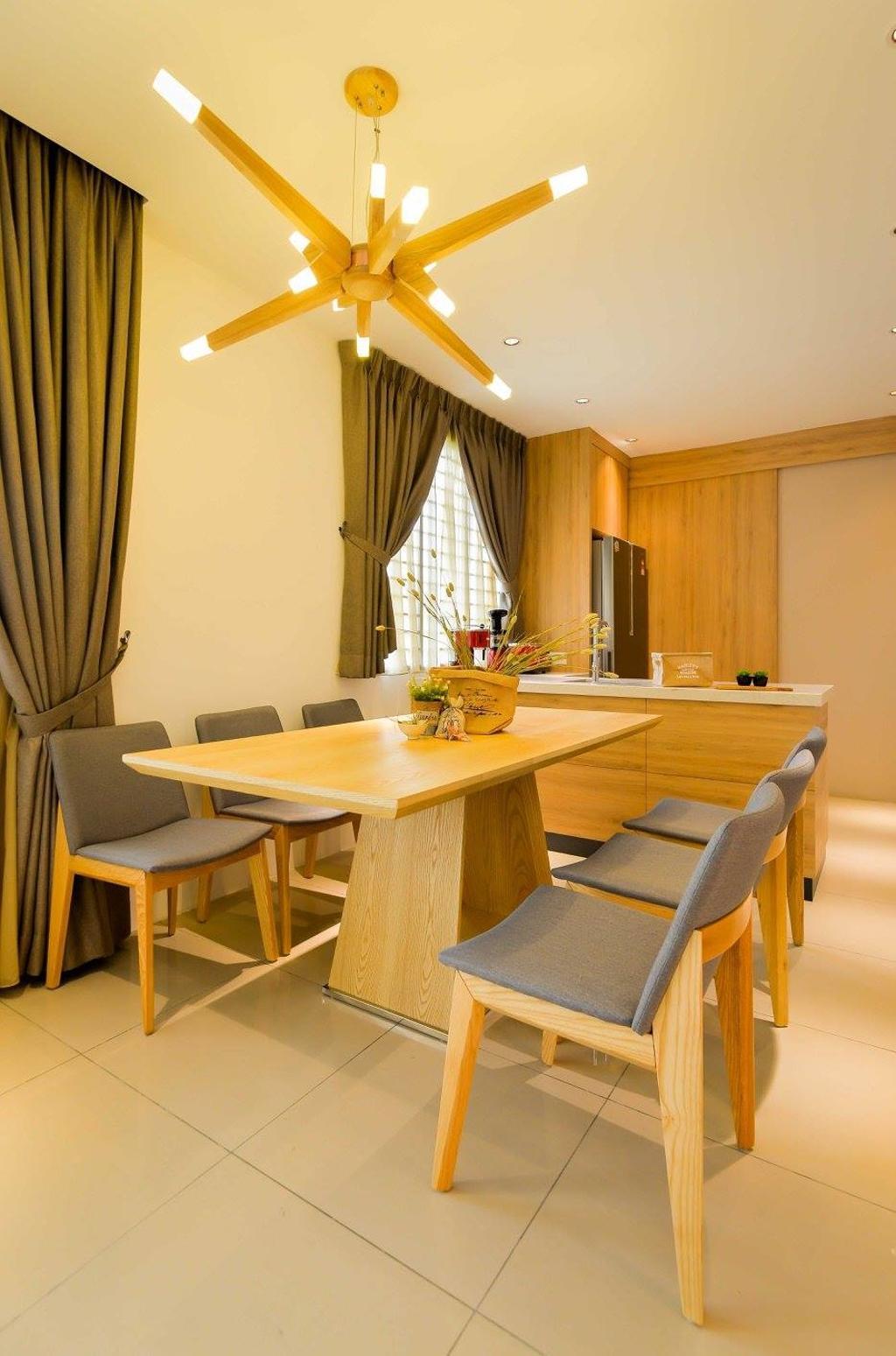 Contemporary, Landed, Dining Room, Laman Rimbunan, Kepong, Interior Designer, Torch Empire, Chair, Furniture, Dining Table, Table, Indoors, Interior Design, Room, Bowl