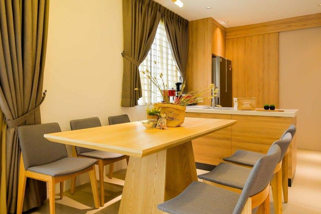 Laman Rimbunan, Kepong, Torch Empire, Contemporary, Dining Room, Landed, Chair, Furniture, Dining Table, Table, Indoors, Interior Design, Room, Bowl