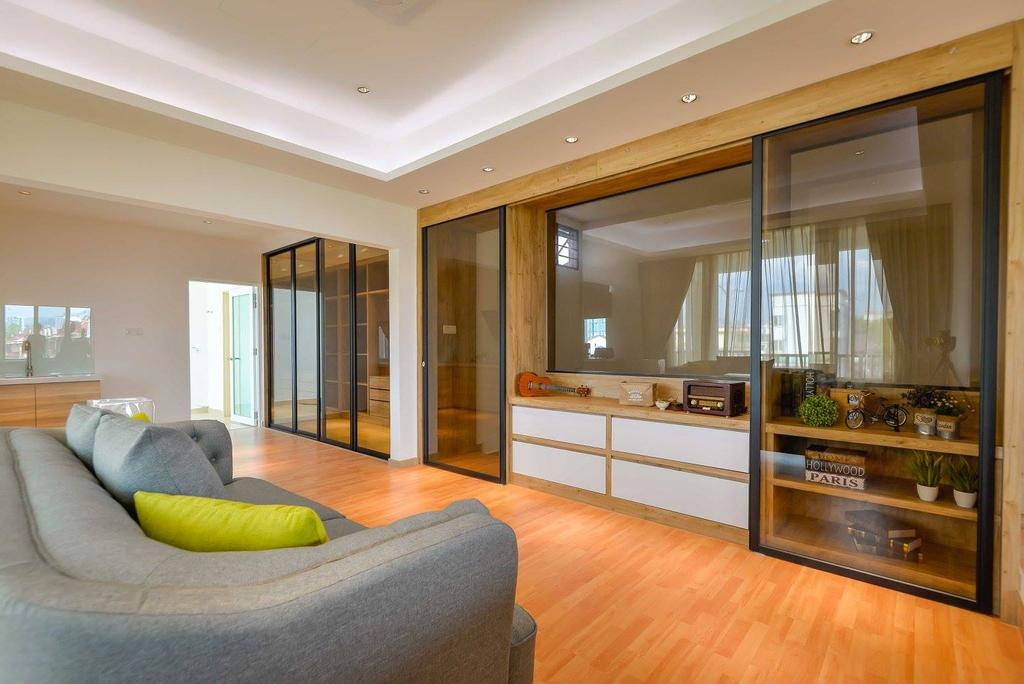 Contemporary, Landed, Laman Rimbunan, Kepong, Interior Designer, Torch Empire, Couch, Furniture, Indoors, Interior Design, Molding, Kitchen, Room