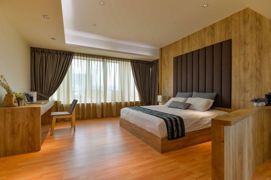 Laman Rimbunan, Kepong, Torch Empire, Contemporary, Bedroom, Landed, Flooring, Hardwood, Wood, Bed, Furniture, Indoors, Interior Design, Room