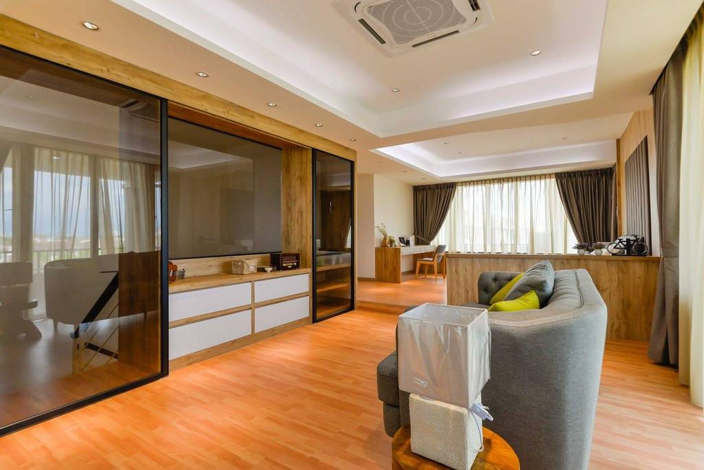 Contemporary, Landed, Laman Rimbunan, Kepong, Interior Designer, Torch Empire, Couch, Furniture, Dining Table, Table, Hardwood, Wood, Indoors, Interior Design, Room