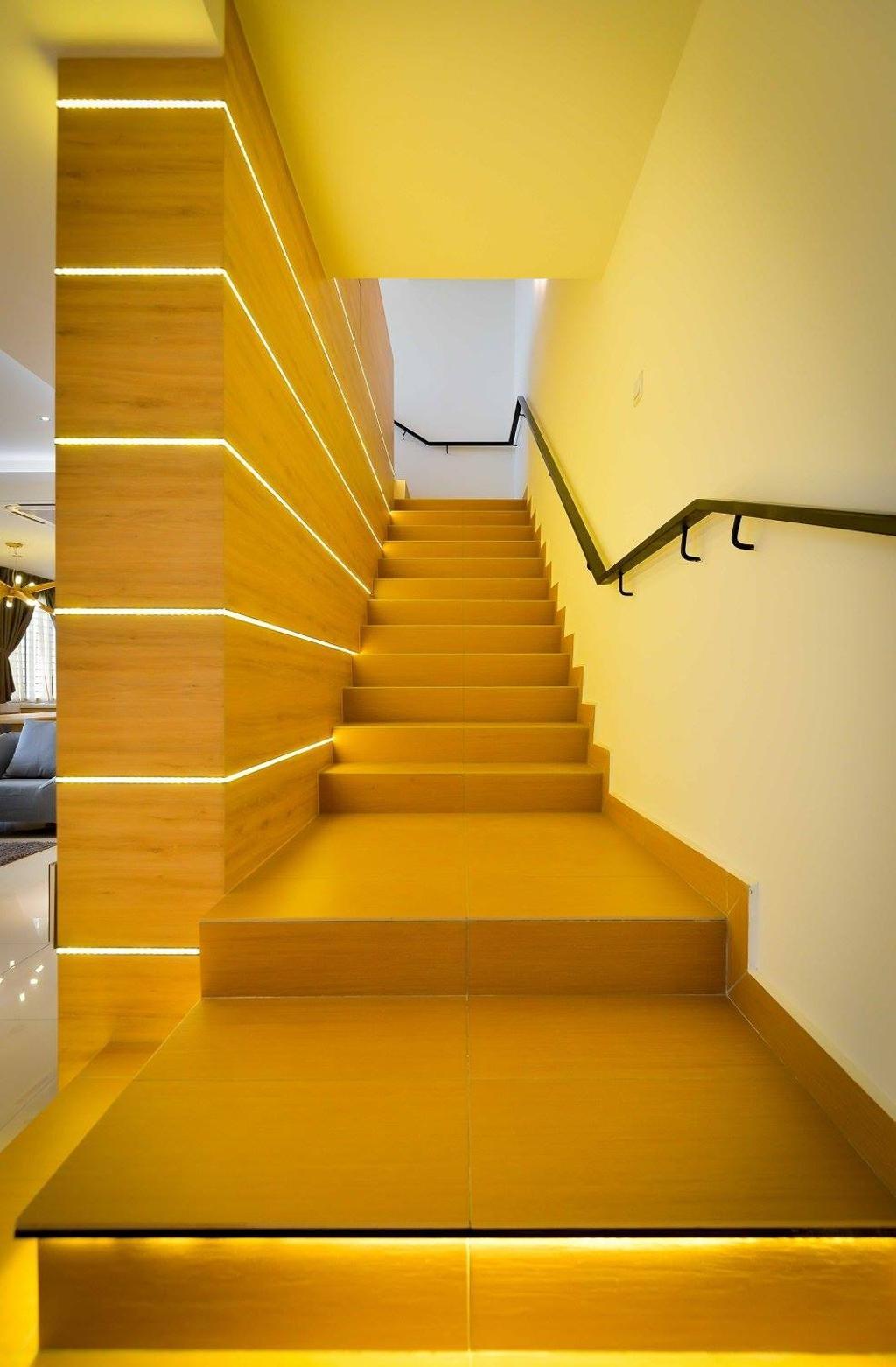 Contemporary, Landed, Laman Rimbunan, Kepong, Interior Designer, Torch Empire, Banister, Handrail, Staircase, Chair, Furniture
