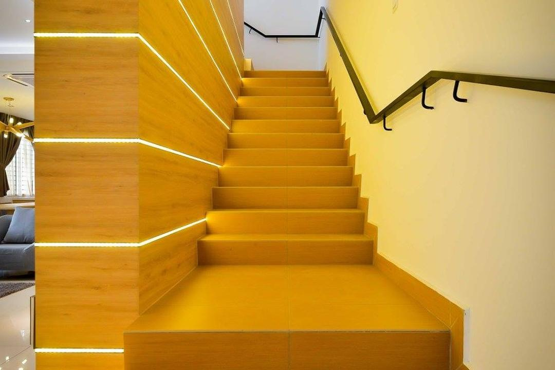 Laman Rimbunan, Kepong, Torch Empire, Contemporary, Landed, Banister, Handrail, Staircase, Chair, Furniture