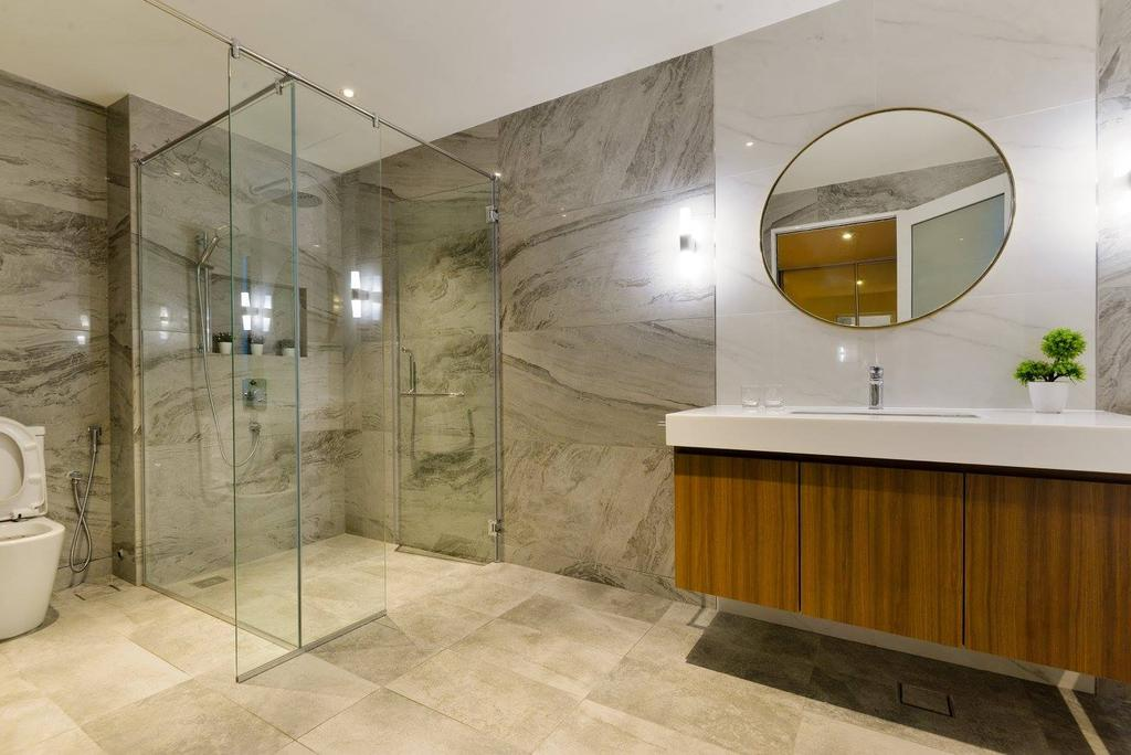 Landed, Bathroom, Taman Taynton View, Cheras, Interior Designer, Torch Empire, Indoors, Interior Design, Flooring