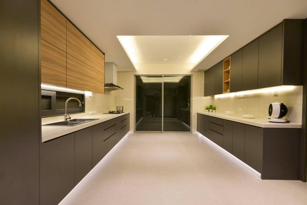 Landed, Kitchen, Taman Taynton View, Cheras, Interior Designer, Torch Empire, Bathroom, Indoors, Interior Design, Room, Sink, Corridor