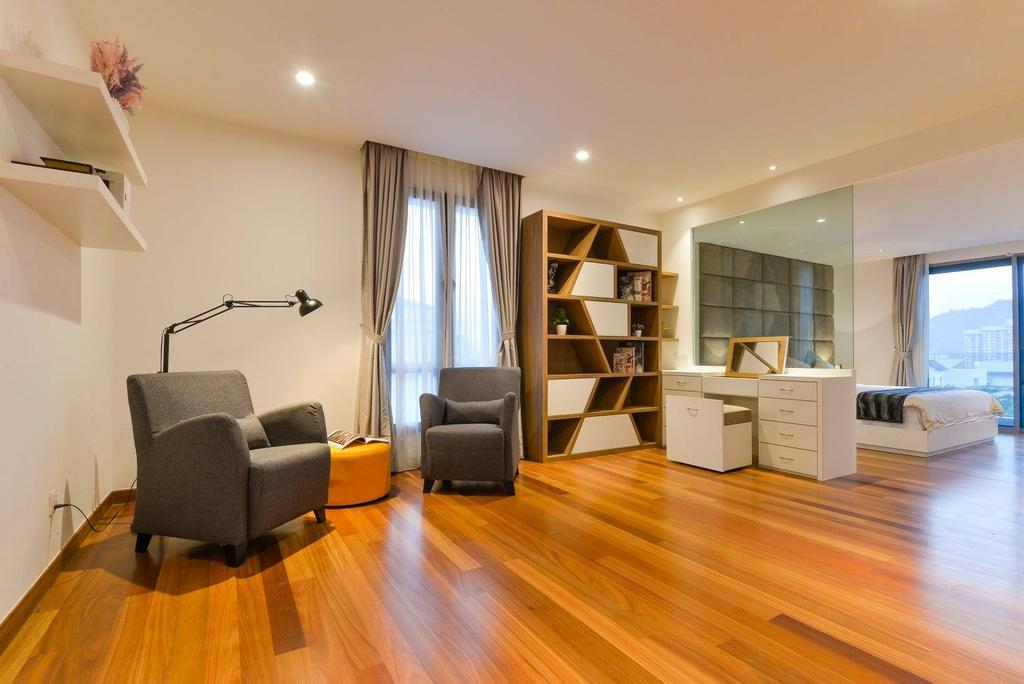 Landed, Taman Taynton View, Cheras, Interior Designer, Torch Empire, Flooring, Curtain, Home Decor, Couch, Furniture, Bookcase, Apartment, Building, Housing, Indoors, Chair, Molding, Hardwood, Wood