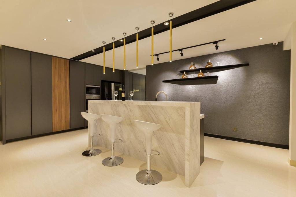 Landed, Kitchen, Taman Taynton View, Cheras, Interior Designer, Torch Empire, Dining Table, Furniture, Table