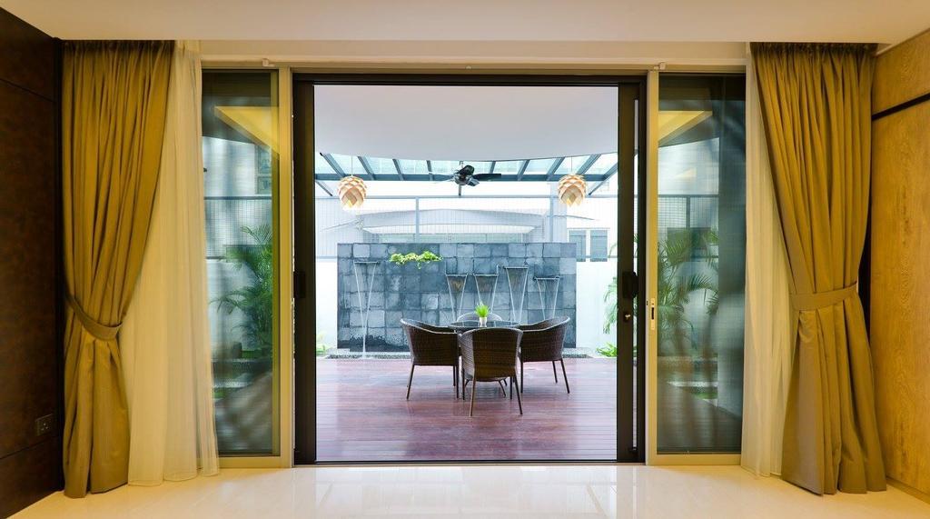 Landed, Balcony, Taman Taynton View, Cheras, Interior Designer, Torch Empire, Curtain, Home Decor, Door, Sliding Door