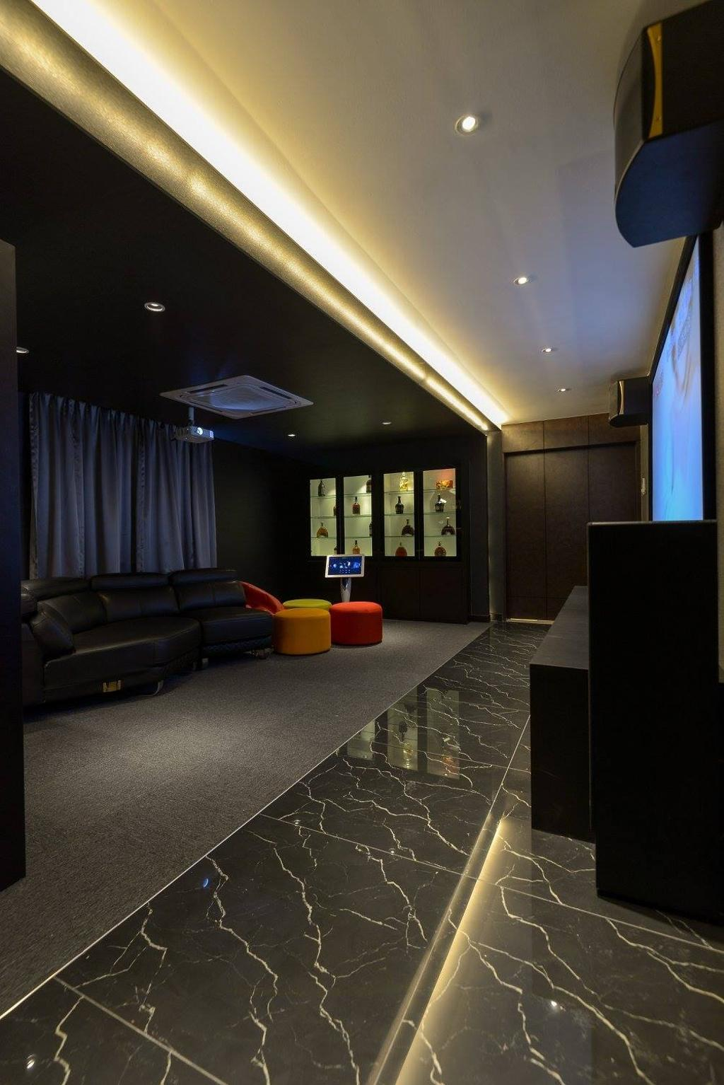 Landed, Taman Taynton View, Cheras, Interior Designer, Torch Empire, Couch, Furniture, Electronics, Monitor, Screen, Tv, Television