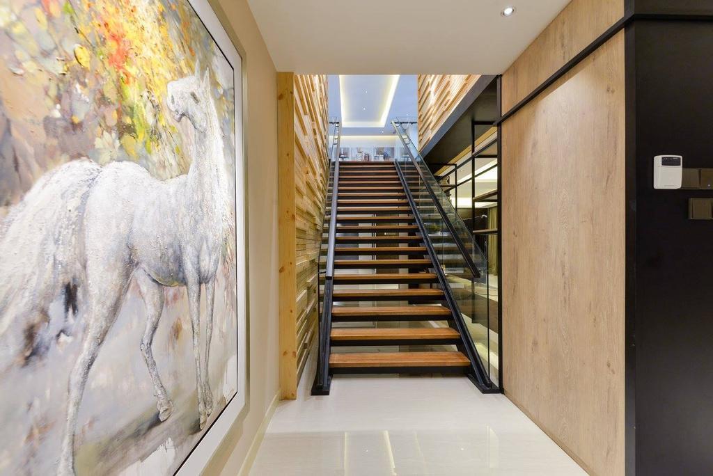 Landed, Taman Taynton View, Cheras, Interior Designer, Torch Empire, Banister, Handrail, Staircase