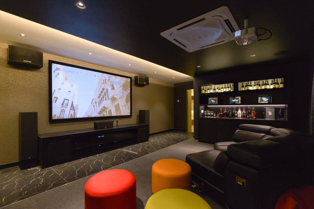 Landed, Taman Taynton View, Cheras, Interior Designer, Torch Empire, Couch, Furniture, Electronics, Entertainment Center, Home Theater