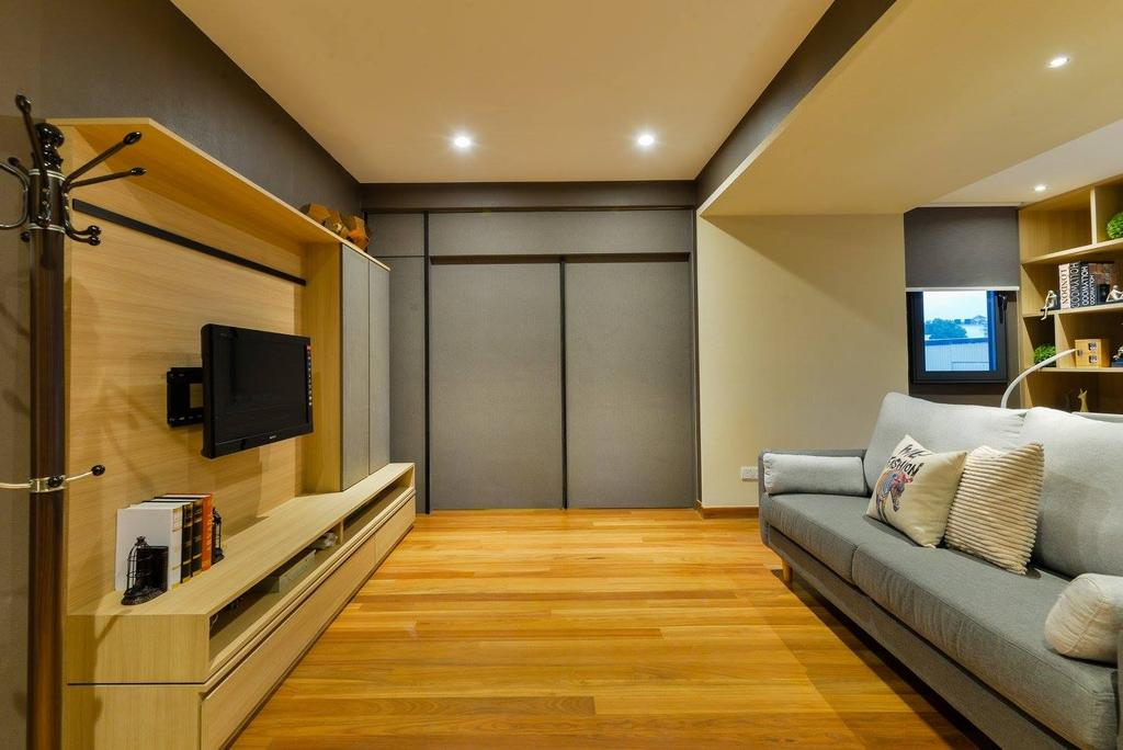 Landed, Taman Taynton View, Cheras, Interior Designer, Torch Empire, Couch, Furniture, Electronics, Monitor, Screen, Tv, Television, Indoors, Interior Design, Lighting