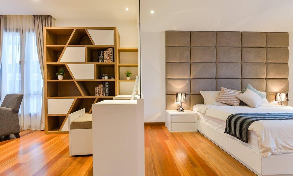 Landed, Bedroom, Taman Taynton View, Cheras, Interior Designer, Torch Empire, Flooring, Indoors, Interior Design, Bookcase, Furniture, Shelf