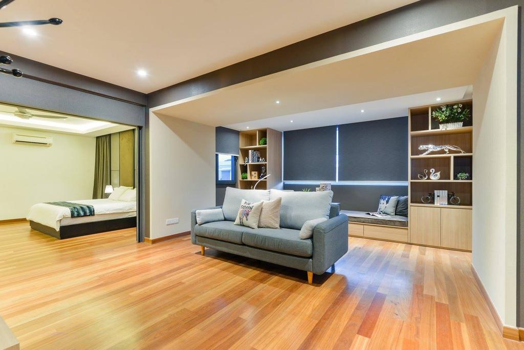 Landed, Taman Taynton View, Cheras, Interior Designer, Torch Empire, Bed, Furniture, Flooring, Couch, Indoors, Interior Design, Room