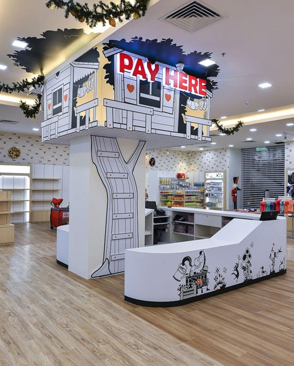 Kid's Gallery, Commercial, Interior Designer, Spazio Design Sdn Bhd, Traditional, Wallpaper, Decal, Departmental Store, Kids, Clothes, Clothing Store, Kiosk