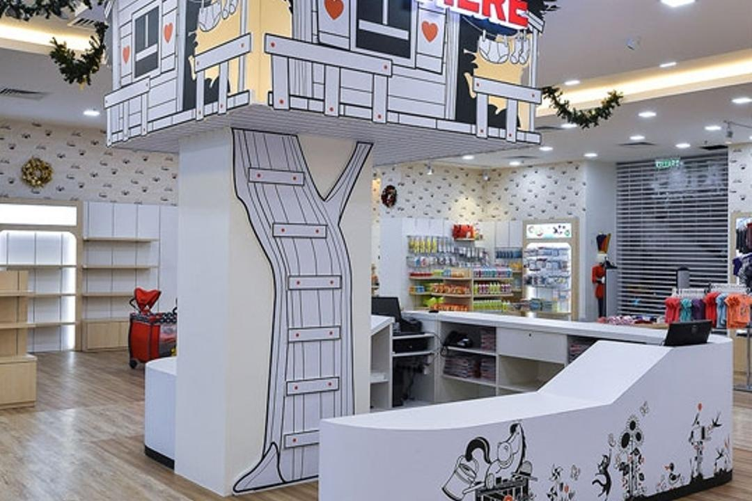 Kid's Gallery, Spazio Design Sdn Bhd, Traditional, Commercial, Wallpaper, Decal, Departmental Store, Kids, Clothes, Clothing Store, Kiosk