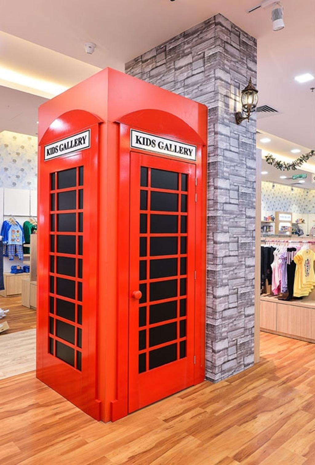 Kid's Gallery, Commercial, Interior Designer, Spazio Design Sdn Bhd, Traditional, Phone Booth, Kids, Departmental Store, Clothes, Clothing Store, Kiosk