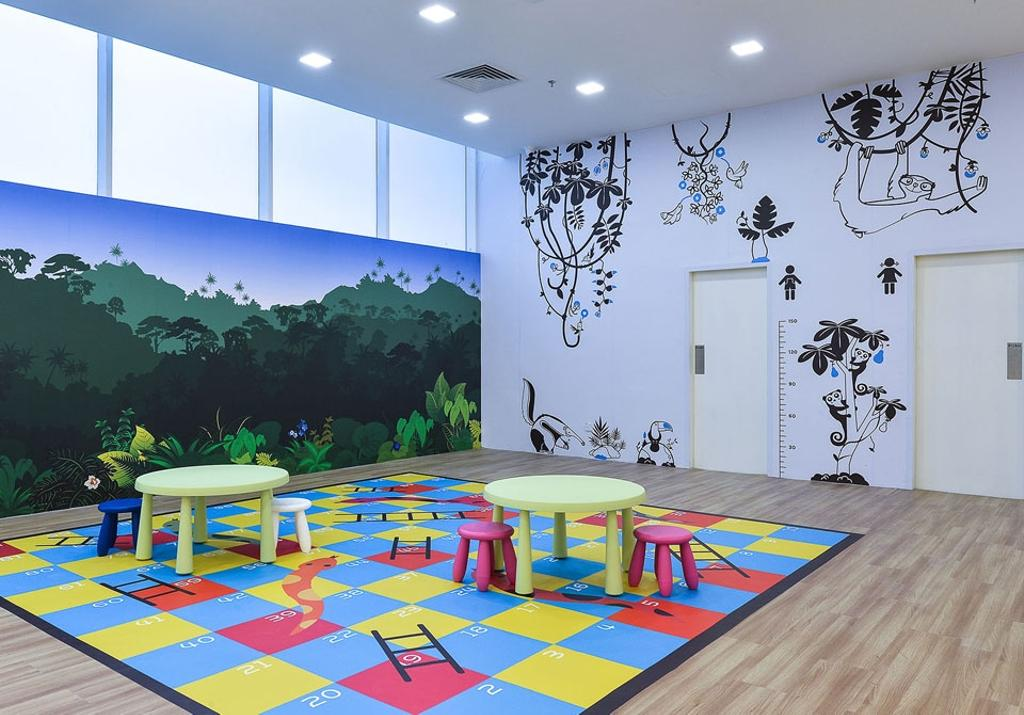 Kid's Gallery, Commercial, Interior Designer, Spazio Design Sdn Bhd, Traditional, Kids, Play Area, Play, Colourful, Decal, Wallpaper, Dining Room, Indoors, Interior Design, Room, Dining Table, Furniture, Table