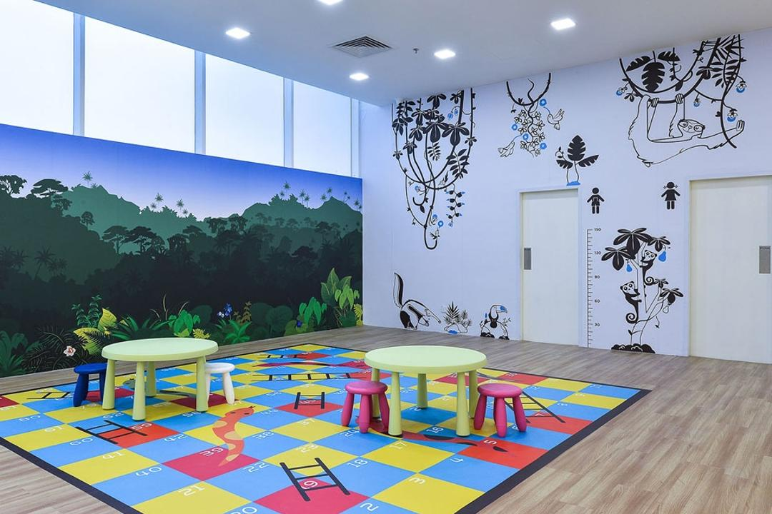 Kid's Gallery, Spazio Design Sdn Bhd, Traditional, Commercial, Kids, Play Area, Play, Colourful, Decal, Wallpaper, Dining Room, Indoors, Interior Design, Room, Dining Table, Furniture, Table