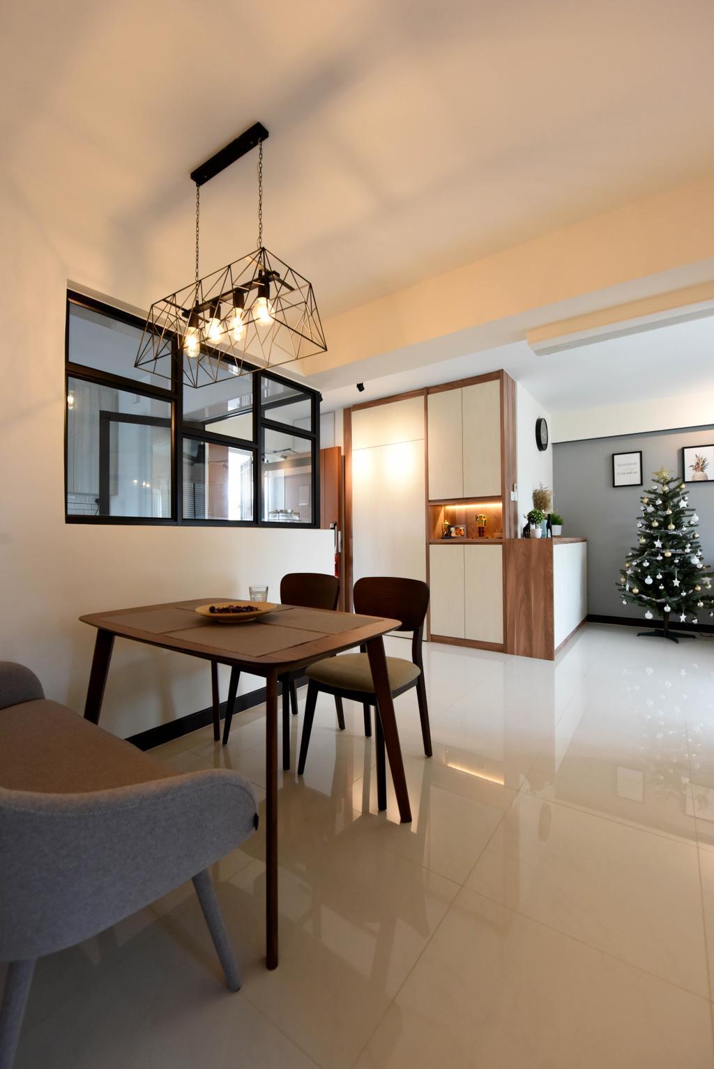 Scandinavian, HDB, Dining Room, Whampoa Dew, Interior Designer, Starry Homestead, Chair, Furniture, Indoors, Interior Design, Room, Dining Table, Table, Tabletop