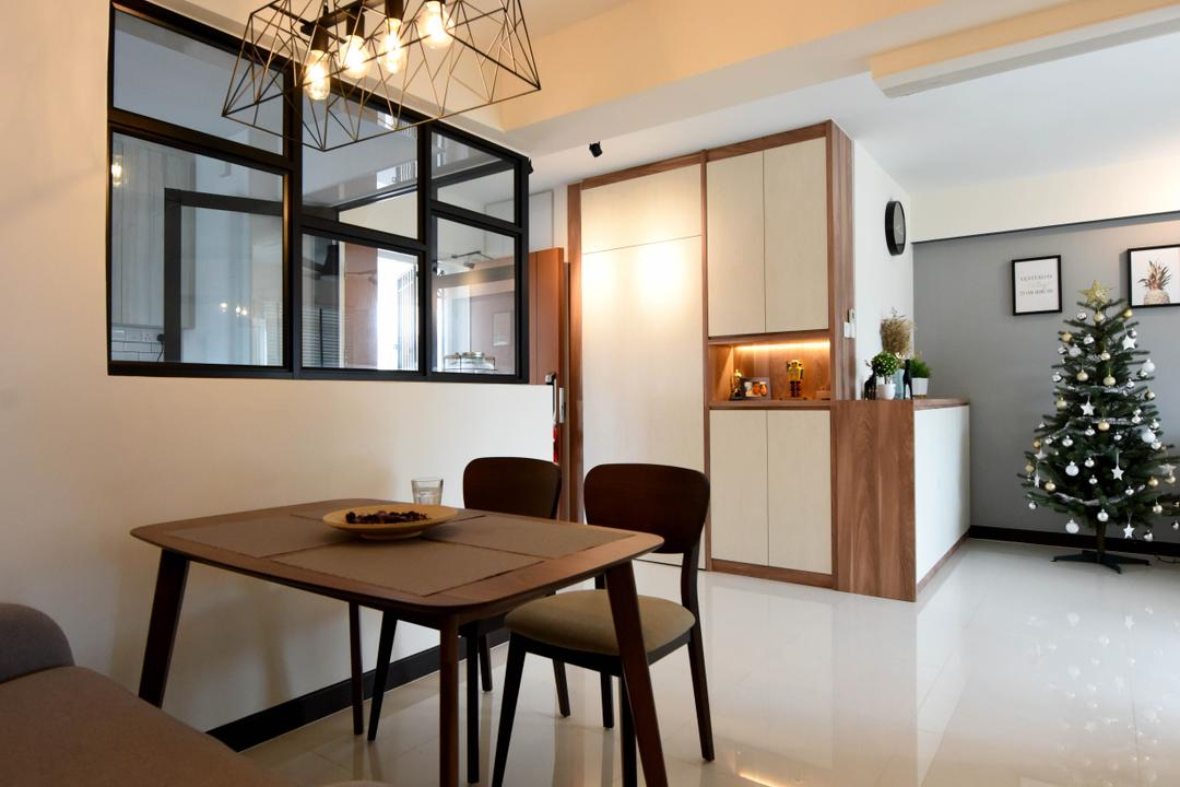 Whampoa Dew, Starry Homestead, Scandinavian, Dining Room, HDB, Chair, Furniture, Indoors, Interior Design, Room, Dining Table, Table, Tabletop