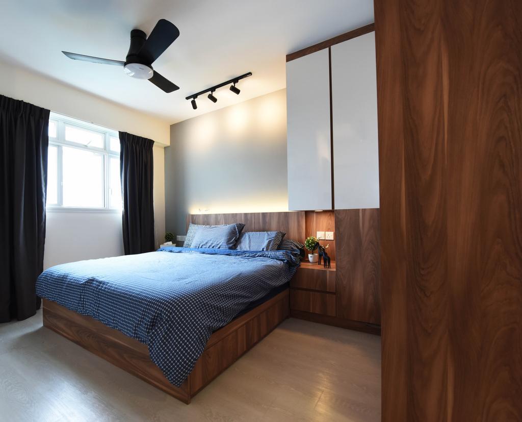 Scandinavian, HDB, Bedroom, Whampoa Dew, Interior Designer, Starry Homestead, Indoors, Interior Design, Room, Bed, Furniture